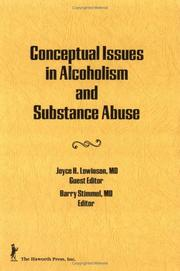 Cover of: Conceptual issues in alcoholism and substance abuse |