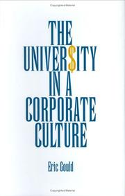 Cover of: The University in a Corporate Culture
