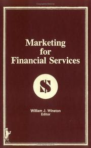 Cover of: Marketing for financial services |