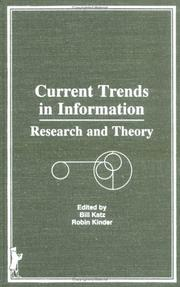 Cover of: Current trends in information