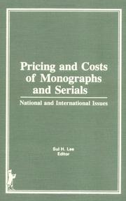Pricing and costs of monographs and serials