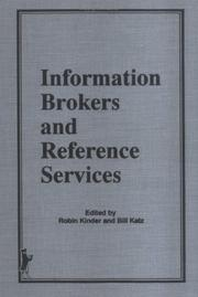 Cover of: Information brokers and reference services