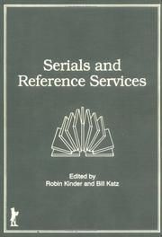 Cover of: Serials and reference services