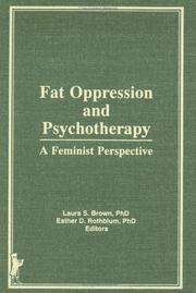 Cover of: Fat oppression and psychotherapy |
