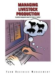 Cover of: Managing Livestock Production (Farm Business Management (Textbooks))
