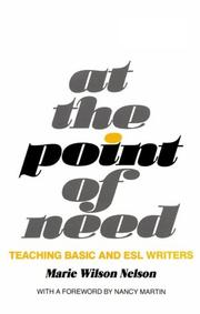 Cover of: At the Point of Need | Marie Wilson Nelson