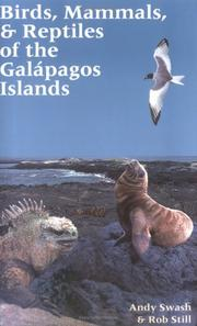 Cover of: Birds, Mammals, and Reptiles of the Galapagos Islands | Andy Swash