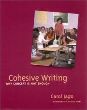 Cover of: Cohesive Writing: Why Concept Is Not Enough