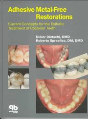 Cover of: Adhesive metal-free restorations