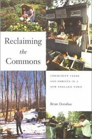 Cover of: Reclaiming the Commons | Brian Donahue