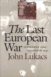 Cover of: The Last European War