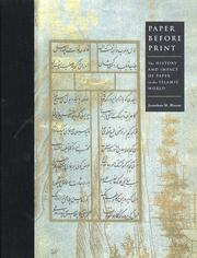 Cover of: Paper Before Print