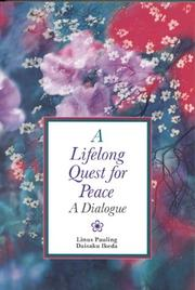 Cover of: A lifelong quest for peace