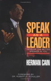 Cover of: Speak as a Leader