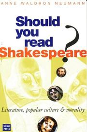 Cover of: Should you read Shakespeare?