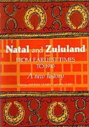 Cover of: Natal and Zululand from earliest times to 1910 |