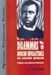 Cover of: Dilemmas of African intellectuals in South Africa