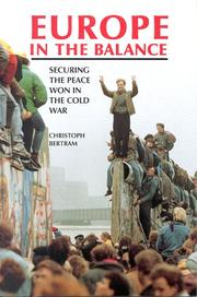Cover of: Europe in the balance | Christoph Bertram