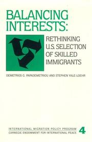 Cover of: Balancing interests