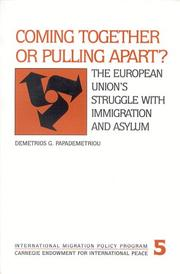 Cover of: Coming together or pulling apart?