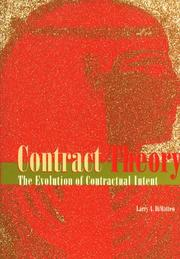 Cover of: Contract theory | Larry A. DiMatteo
