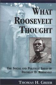 Cover of: What Roosevelt thought