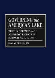 Governing the American Lake by Hal M. Friedman