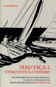 Cover of: Nautical etiquette and customs
