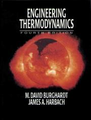 Cover of: Engineering thermodynamics