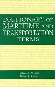 Cover of: Dictionary of maritime and transportation terms