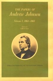 Cover of: The papers of Andrew Johnson