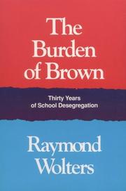 Cover of: The burden of Brown
