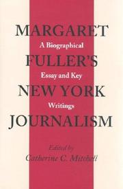 Cover of: Margaret Fuller's New York journalism