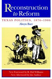 Cover of: Reconstruction to reform