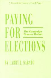 Cover of: Paying for elections