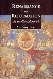 Cover of: Renaissance and reformation | Anthony Levi