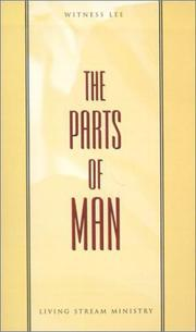 Cover of: The Parts of Man | Witness Lee