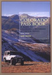 Cover of: The Colorado pass book