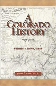 Cover of: A Colorado History