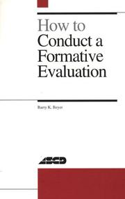 Cover of: How to conduct a formative evaluation