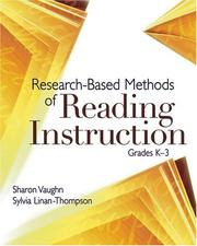 Cover of: Research-Based Methods Of Reading Instruction: Grades K-3