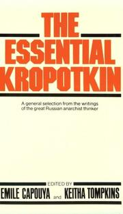 Cover of: The essential Kropotkin