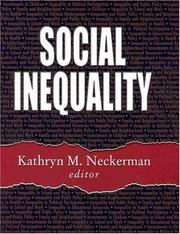 Cover of: Social Inequality | Kathryn M. Neckerman