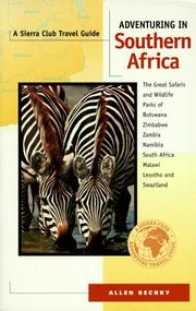 Cover of: Adventuring in Southern Africa | Allen Bechky