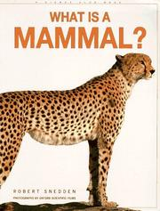 Cover of: What is a Mammal? (What is)