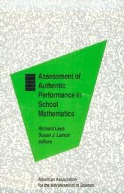 Cover of: Assessment of authentic performance in school mathematics |