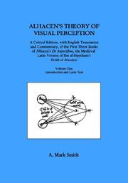 Cover of: Alhacen's Theory of Visual Perception 2-volume set) | A. Mark Smith