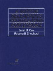 Cover of: A motor relearning programme for stroke