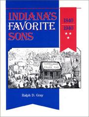 Cover of: Indiana's favorite sons, 1840-1940
