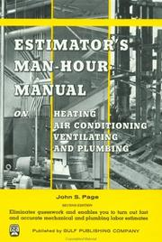 Cover of: Estimator's man-hour manual on heating, air conditioning, ventilating, and plumbing